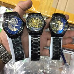 Đồng hồ cơ RRolexx đen giá sỉ