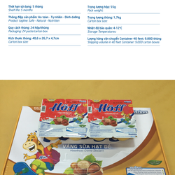 Váng sữa Hoff Hạt dẻ 55g48 hộp giá sỉ, giá bán buôn