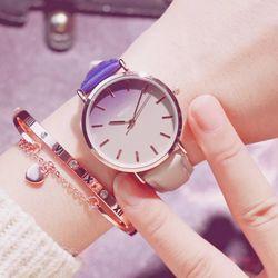 Đồng hồ nữ dây da mặt pha màu giá sỉ