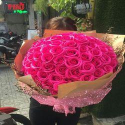 Hoa hồng sáp thơm bó 99 bông giá sỉ
