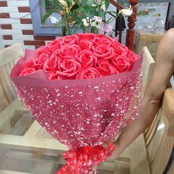 Hoa hồng sáp thơm bó 66 bông giá sỉ