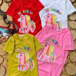 Đầm suông in hình con ngựa cho bé gái giá sỉ