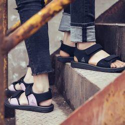 sandal nam nữ mã 337 ghi - tím