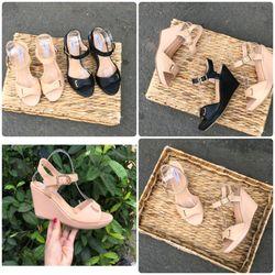 Giày sandal đế xuồng cao 9p kiểu dáng sang trọng dễ đi giá sỉ