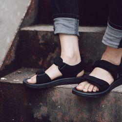 sandal nam nữ mã 337 đen giá sỉ, giá bán buôn