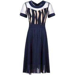 Đầm xòe vintage chiffon phối ren lưới giá sỉ, giá bán buôn