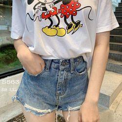 Short Cotton cạp cao giá sỉ