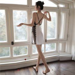 Váy ngủ sexy viền ren - Hàng QuẢng Châu - các màu đỏ trắng đen giá sỉ
