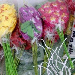 hoa lan vải lụa