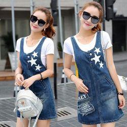 Đầm Jean Yếm In Ngôi Sao Thời Trang giá sỉ