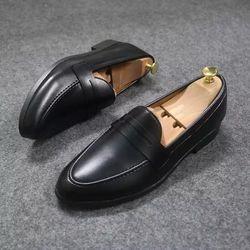 Giày Tây Khóa Kim Loại - MT- ĐEN- LỲ giá sỉ