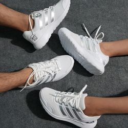 Giày Thể Thao Nam Nữ Trắng Sọc Bạc giá sỉ, giá bán buôn