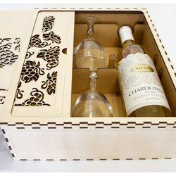 Hộp rượu vang trang trí làm quà tặng jonnydecor J2 giá sỉ, giá bán buôn