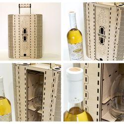 Hộp rượu vang trang trí làm quà tặng jonnydecor J3 giá sỉ