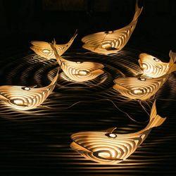 Đèn cá voi trả trần trang trí