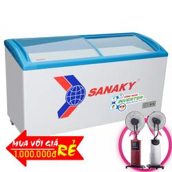 TỦ ĐÔNG CỬA KIẾNG LÙA SANAKY INVERTER 340 LÍT VH-4899K3 ĐỒNG R134A KEM giá sỉ