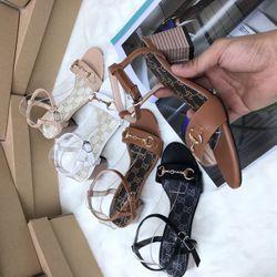 Giày Sandan gót sọc 5 phân S104 giá sỉ giá sỉ