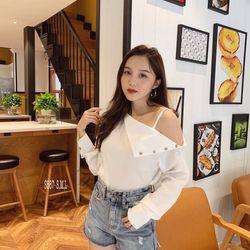 Short jeans cotton cạp cao giá sỉ