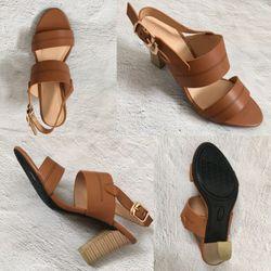 Giày sandal cao gót 5p và 7p thiết kế 2 line trẻ trung