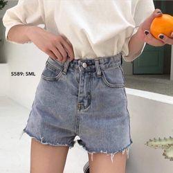 Short Jeans cạp cao tua lai giá sỉ