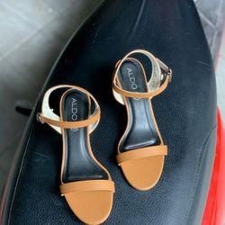 Giày sandal 2 line gót MK trong cao 5p