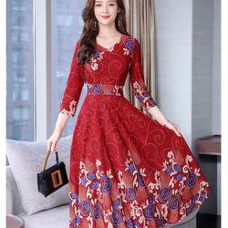 Đầm thun hoa giá sỉ