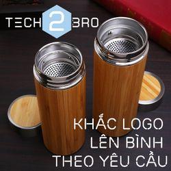 BÁN SỈ - - Bình giữ nhiệt vỏ tre truyền thống / Bamboo Tumbler - 360ml và 500ml giá sỉ