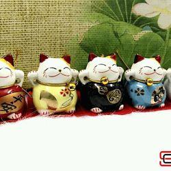 Bộ tượng 5 mèo Thần Tài