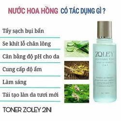 Nước hoa hồng tẩy trang - Toner 2in1 Zoley 150ml giá sỉ