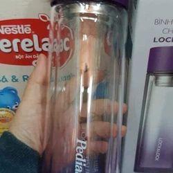 Bình thủy tinh màu chịu nhiệt Lock Lock 350ml nắp vặn LLG653 - Sữa Pedia Abbott tặng giá sỉ