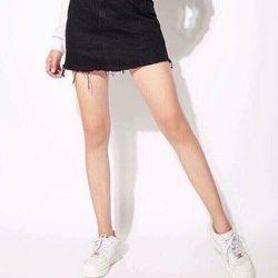 Chân váy kaki trơn thời trang xuất dư