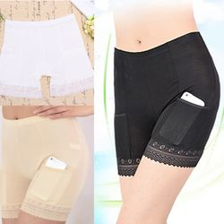 Quần lót dài mặc váy gắn vô tư có túi để tiền an toàn-100