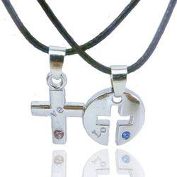 Dây chuyền dây da cặp đôi giá sỉ 27k 1 cặp bao gồm 2 dây và 2 mặt nhiều mẫu rất đẹp vòng cổ cặp đôi giá sỉ