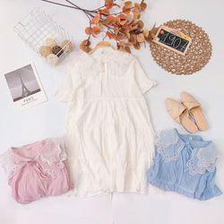 Đầm babydoll cổ ren giá sỉ