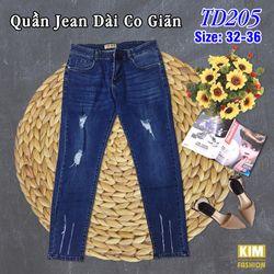 Quần Jean Dài Bigsize Co Giãn TD205 size 32-36 giá sỉ