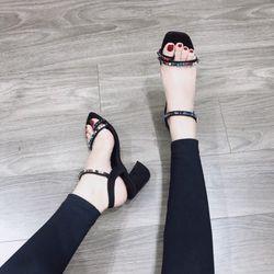 Giày sandal đá màu cao gót giá sỉ