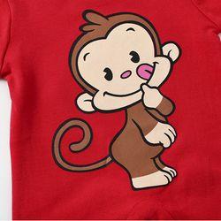 Áo liền quần cho bé sơ sinh hình chú khỉ đáng yêu 106