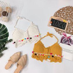 Áo bra len móc viền bông Có mút lót giá sỉ, giá bán buôn