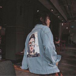 áo khoác jean nữ đắp cô gái giá sỉ