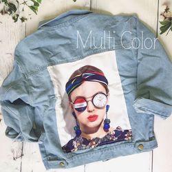 áo khoác jean nữ đắp cô gái giá sỉ, giá bán buôn