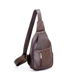 Túi đeo chéo CNT unisex MQ14 cá tính nâu giá sỉ, giá bán buôn