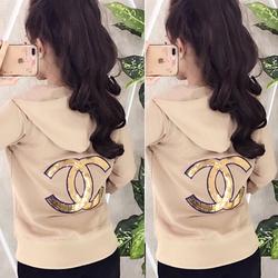 Áo khoác da cá logo in nổi -05 giá sỉ, giá bán buôn