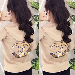 Áo khoác da cá logo in nổi -06 giá sỉ, giá bán buôn