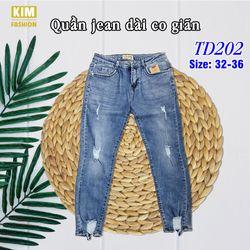 Quần Jean Dài Co Giãn Bigsize TD202 Size 32-36 giá sỉ