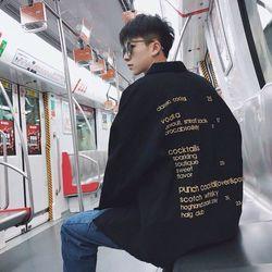 áo khoác jean nam đen in chữ nhỏ giá sỉ, giá bán buôn