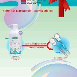 nước rửa bình sữa PUR giá sỉ