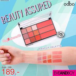 Phấn mắt Odbo Beauty 9 ô kèm 3 má hồng OD1029 sỉ 75k tone 2 3 4