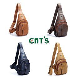 Túi đeo chéo CNT unisex MQ15 cá tính NÂU giá sỉ, giá bán buôn