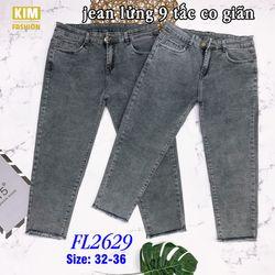 Quần Jean Lửng 9 Tấc Co Giãn Bigsize FL2629 Size 32-36 giá sỉ