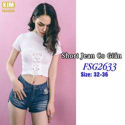 Quần Short Jean Bigsize Co Giãn FSG2633 Size 32-36 giá sỉ